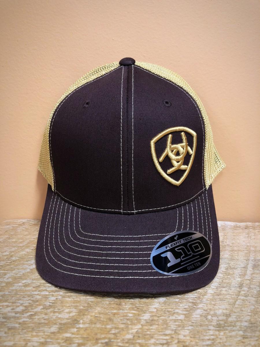 b33cd29ea5e75 ARIAT- Men s Logo FLEXFIT Medium- High Cap ( Brown ) - El Potrerito