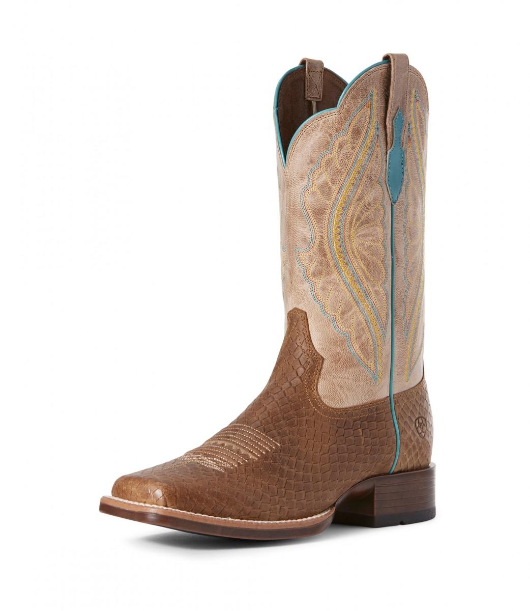 cea5086988b ARIAT - Women's PrimeTime Western Boot ( Hollin Dragon / Jackal Tan )