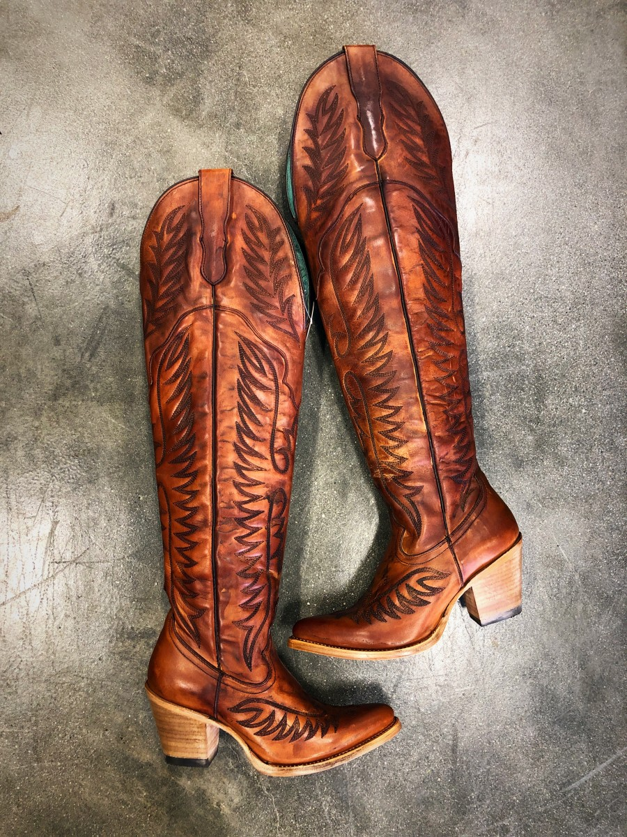 Embroidery Knee High Cowgirl Boots