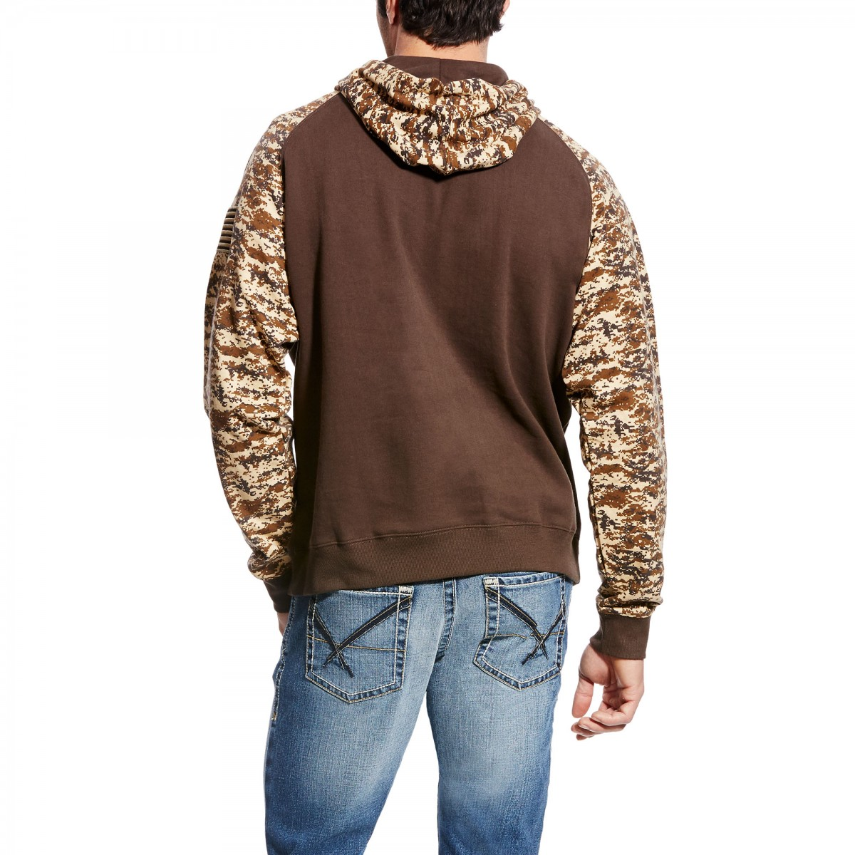 55361779483 ARIAT - Men's Patriot Hoodie (Desert Digi Camo )